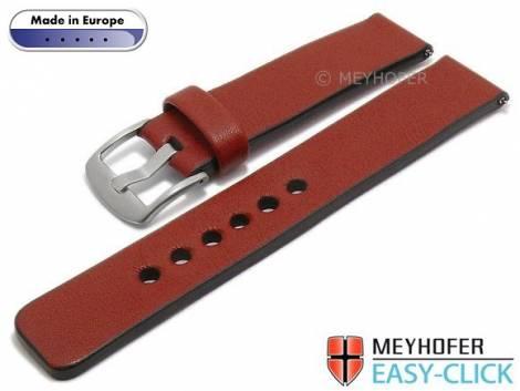 Meyhofer EASY-CLICK Uhrenarmband -Cardemin- 22mm rot Leder glatt (Schließenanstoß 22 mm) - Bild vergrößern