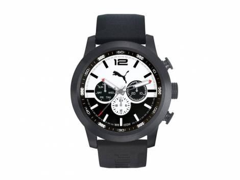 Sportive Herrenuhr -Wheel Drift- Edelstahl schwarz Ziffernblatt schwarz/weiß von PUMA (*PU*HU*)  - Bild vergrößern