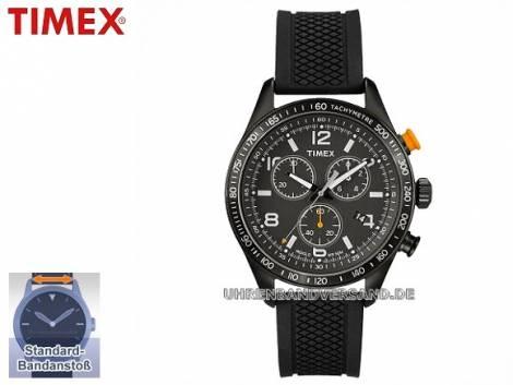 Sportlicher Herren-Chronograph Edelstahl schwarz Ziffernblatt schwarz von Timex (*TM*HU*) - Bild vergrößern