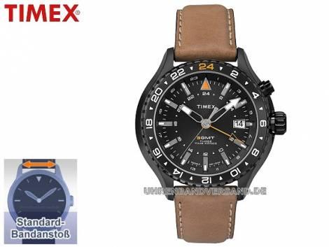 Sportliche Herrenuhr Metall schwarz Ziffernblatt anthrazit von Timex (*TM*HU*) - Bild vergrößern