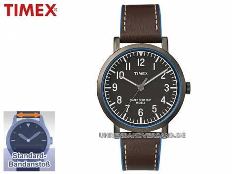 Sportliche Herrenuhr Metall schwarz Ziffernblatt schwarz von Timex (*TM*HU*) - Bild vergrößern