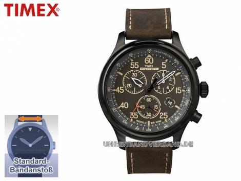 Sportliche Herrenuhr Edelstahl schwarz Ziffernblatt schwarz von Timex (*TM*HU*) - Bild vergrößern