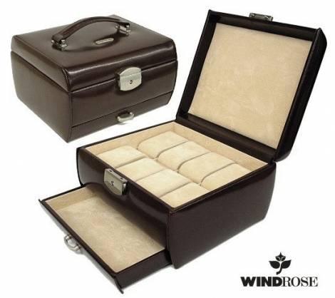 uhrenkoffer classico 8 uhren schwarz leder windrose. Black Bedroom Furniture Sets. Home Design Ideas