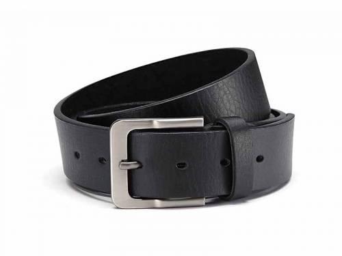 Basic-Gürtel schwarz genarbt - Größe 125 (Breite ca. 4 cm) - Bild vergrößern