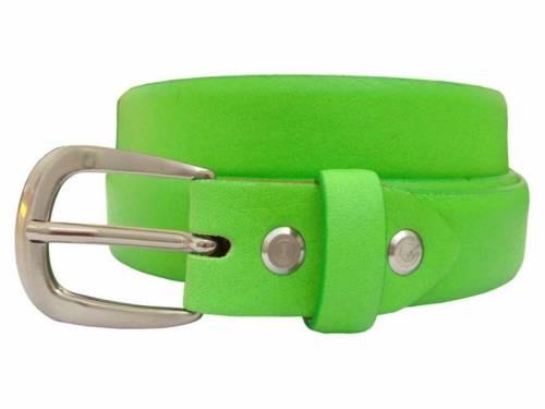 Damengürtel Leder hellgrün bombiert - Größe 90 (Breite 2,5 cm) - Bild vergrößern