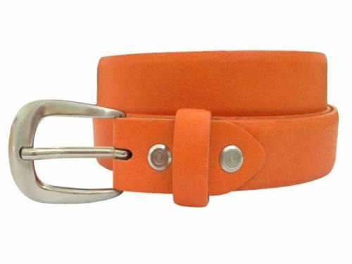 Damengürtel Leder orange bombiert - Größe 90 (Breite 2,5 cm) - Bild vergrößern