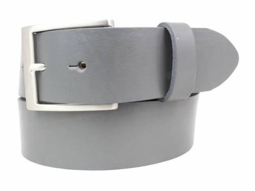 Gürtel Vollrindleder dunkelgrau fein genarbt - Größe 85 (Breite 4 cm) - Bild vergrößern