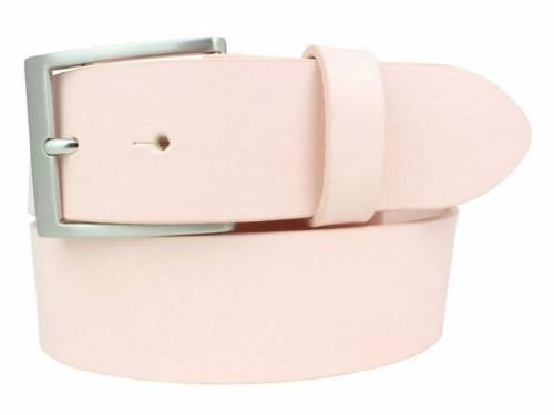 Gürtel Vollrindleder rosa fein genarbt - Größe 85 (Breite 4 cm) - Bild vergrößern