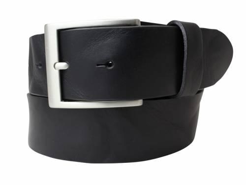 Gürtel aus Vollrindleder schwarz Used-Look - Größe 100 (Breite 4 cm) - Bild vergrößern