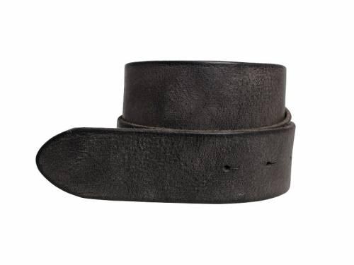 Sportiver Ledergürtel OHNE Schließe Schraub-System schwarz Used-Vintage-Look - Größe 100 (Breite ca. 4 cm) - Bild vergrößern