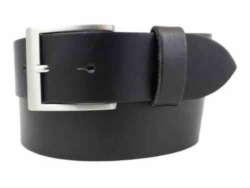 Gürtel aus Spaltleder schwarz glatt - Größe 95 (Breite 4 cm) - Bild vergrößern