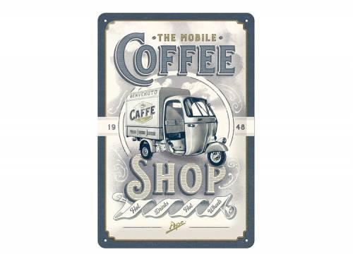 Deko-Blechschild / Retro-Reklameschild -Ape - Coffee Shop- grau/creme 30 x 20cm von Nostalgic-Art - Bild vergrößern