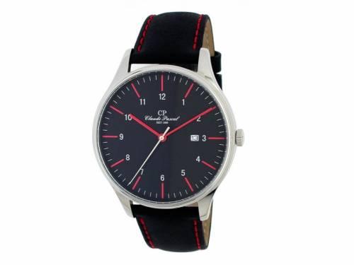 Armbanduhr Edelstahl silberfarben Ziffernblatt schwarz von Claude Pascal (*CL*AU*) - Bild vergrößern