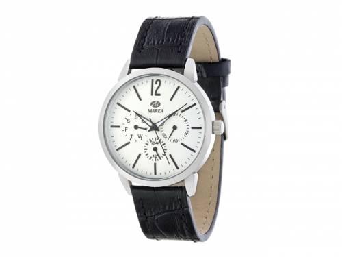 Armbanduhr klassisch Metall silberfarben Ziffernblatt weiß von Marea (*MR*HU*) - Bild vergrößern