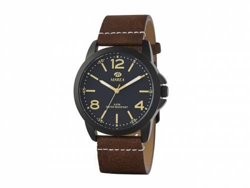 Armbanduhr klassisch Metall schwarz Ziffernblatt schwarz von Marea (*MR*HU*) - Bild vergrößern
