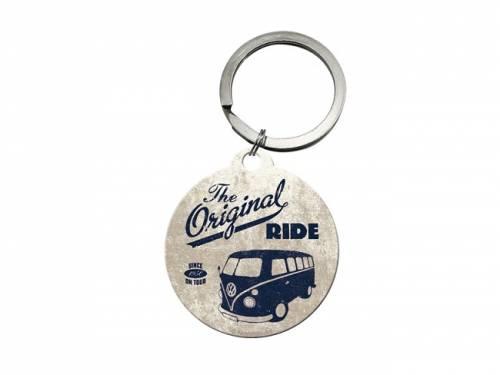 Retro-Schlüsselanhänger/Taschenanhänger Volkswagen T1 Bully schwarz/beige von Nostalgic-Art - Bild vergrößern