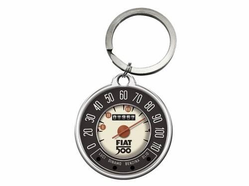 Retro-Schlüsselanhänger/Taschenanhänger FIAT 500 Tachometer 1957 schwarz/beige/rot von Nostalgic-Art - Bild vergrößern