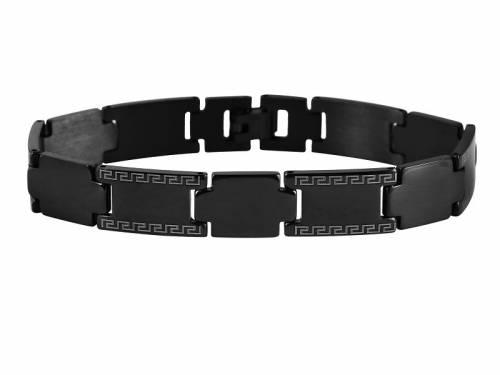 Schmuck-Armband Edelstahl massiv schwarz poliert - Bandlänge ca. 21cm - Bild vergrößern