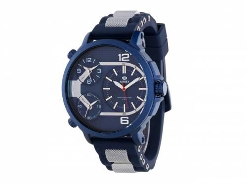 Armbanduhr sportiv Metall blau Ziffernblatt dunkelblau von Marea (*MR*HU*) - Bild vergrößern