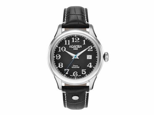 Automatik-Armbanduhr silberfarben Ziffernblatt schwarz von ROAMER (*RM*HU*) - Bild vergrößern