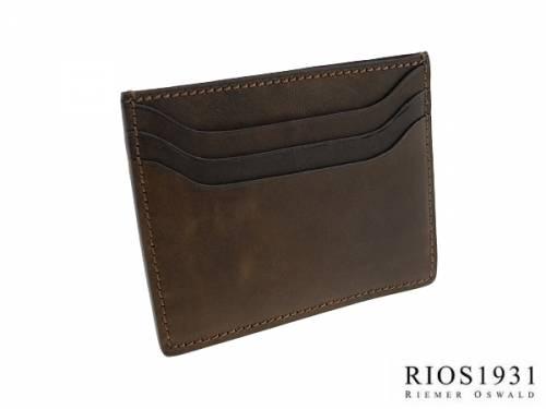 Kartenetui -Iwan- echt Leder Vintage-Look dunkelbraun von RIOS - Bild vergrößern