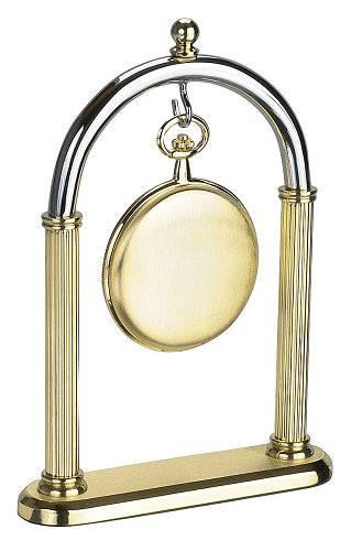 Taschenuhrständer \-Torbogen\- zur Aufbewahrung silber- / goldfarben für 1 Taschenuhr - Produktbild