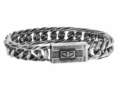 Schmuck-Armband -Alley- Edelstahl antik-schwarz Magnet-Verschluss von POLICE - Bandlänge ca. 20,5cm - Bild vergrößern