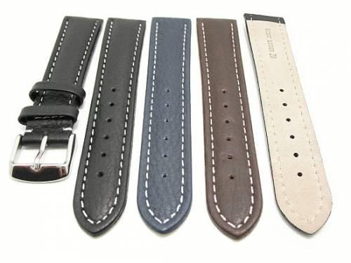 10er-Set Uhrenarmbänder CLASSIC ADVENTURE 18 - 24mm schwarz, dunkelbraun o. dunkelblau genarbt - Bild vergrößern