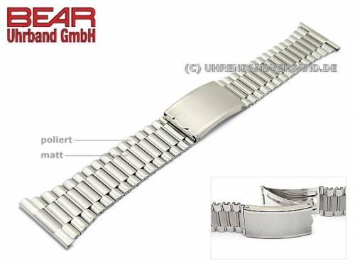 Edelstahl-Uhrband 22mm elegant teilweise poliert von BEAR - Bild vergrößern