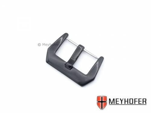 Breitdornschließe -Rahlstedt- passend für Panerai u.a. (Flat-Style) 26mm schwarz Edelstahl poliert von MEYHOFER - Bild vergrößern