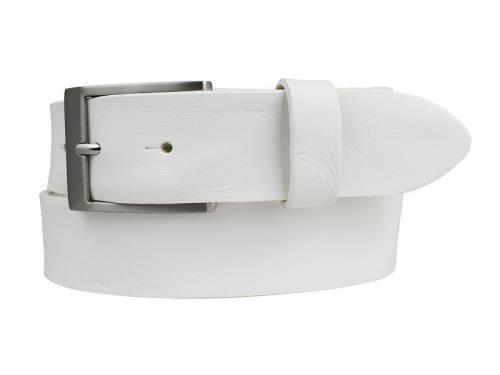 Gürtel aus Vollrindleder weiß Used-Look - Größe 85 (Breite 3,5 cm) - Bild vergrößern