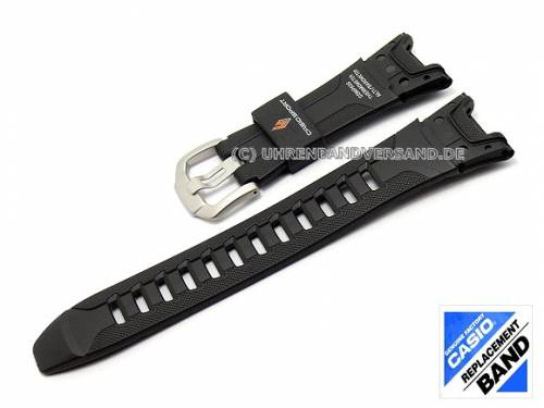 CASIO Ersatz-Uhrenarmband schwarz Kunststoff (10262751) Spezialanstoß für PRW-1300, PAW-1300 etc. - Bild vergrößern