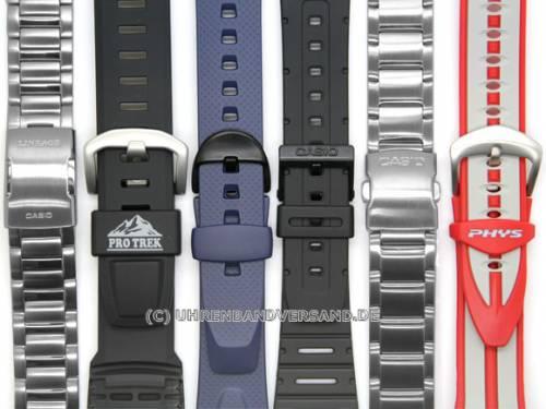 CASIO- Ersatzband 18mm schwarz Kunststoff (10036568) für PRG-40-3, PRG-240-1 - Bild vergrößern