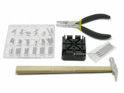 Uhrmacher-Werkzeugset zur Montage und Demontage von Uhrenarmbandstiften - Bild vergrößern