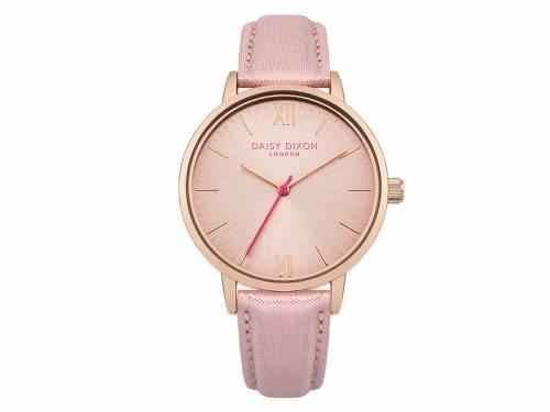 Armbanduhr roségoldfarben Ziffernblatt rosa Lederband in rosa von Daisy Dixon (*DX*DU*) - Bild vergrößern