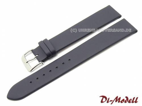 Uhrenarmband 18mm XL dunkelblau Di-Modell -Nappa waterproof- glatt (Schließenanstoß 16 mm) - Bild vergrößern