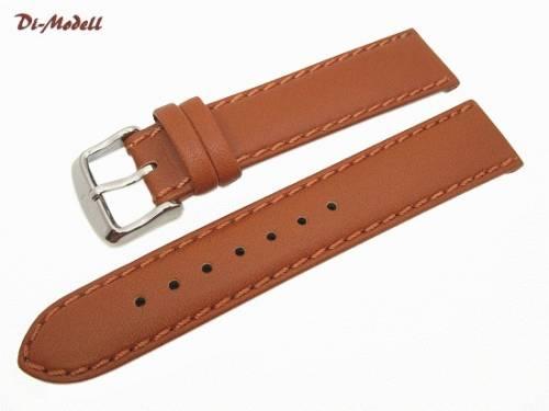 Uhrenarmband 20mm braun Di-Modell -Oregon- Sattelleder handgenäht (Schließenanstoß 18 mm) - Bild vergrößern