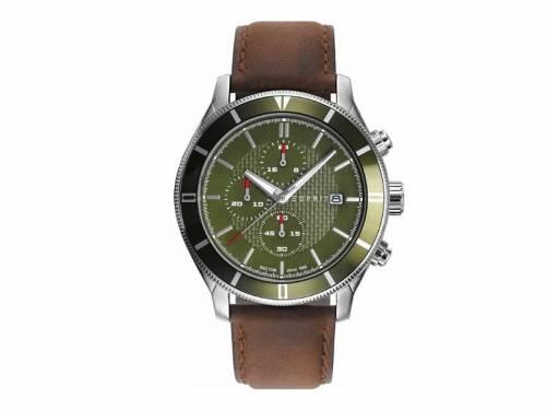 Chronograph Edelstahl silberfarben Ziffernblatt oliv von ESPRIT (*ES*HU*) - Bild vergrößern