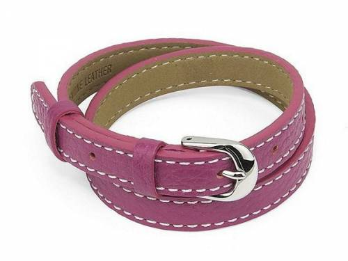 Schmuck-Armband/Wickelband Leder rosa - Bandlänge bis ca. 20cm - Bild vergrößern