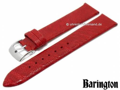 Uhrenarmband 20mm rot echt Straußen-Bein von BARINGTON (Schließenanstoß 18 mm) - Bild vergrößern