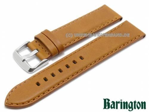 Uhrenarmband -Verona- 20mm hellbraun Rindleder glatt matt von Barington (Schließenanstoß 20 mm) - Bild vergrößern