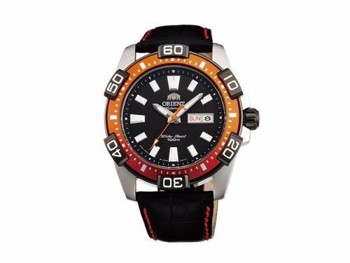 Automatik-Armbanduhr Marine silberfarben Ziffernblatt schwarz von ORIENT (*OR*HU*) - Bild vergrößern