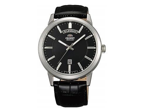 Automatik-Armbanduhr Edelstahl silberfarben Ziffernblatt schwarz von ORIENT (*OR*AU*) - Produktbild
