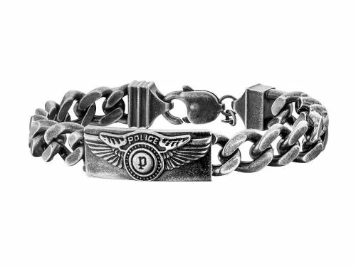 Schmuck-Armband -Freedom- Edelstahl antik-schwarz von POLICE - Bandlänge ca. 21cm - Bild vergrößern