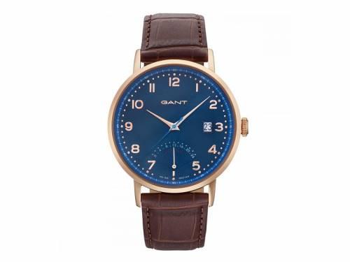 Armbanduhr -Pennington- Edelstahl roségoldfarben Ziffernblatt blau von GANT (*GT*AU*) - Bild vergrößern