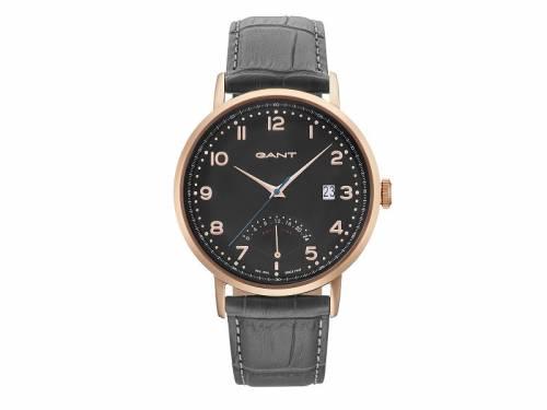 Armbanduhr -Pennington- Edelstahl roségoldfarben Ziffernblatt schwarz von GANT (*GT*AU*) - Bild vergrößern