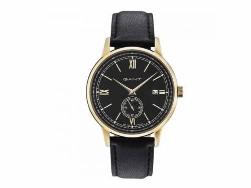 Armbanduhr -Freeport- Edelstahl goldfarben Ziffernblatt schwarz von GANT (*GT*AU*) - Bild vergrößern