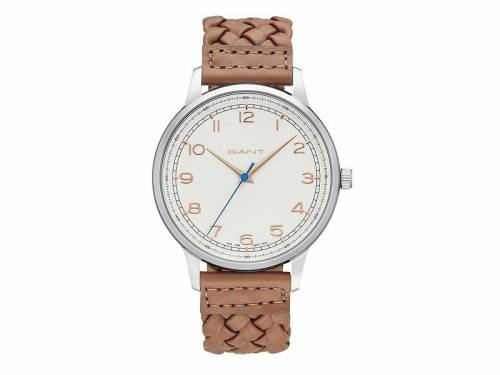 Armbanduhr -Brookville- Edelstahl silberfarben Ziffernblatt weiß von GANT (*GT*AU*) - Bild vergrößern