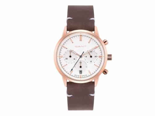 Damen-Chronograph -Bradford Lady- Edelstahl roségoldfarben Ziffernblatt weiß von GANT (*GT*DU*) - Bild vergrößern
