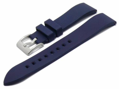 Uhrenarmband 22mm dunkelblau FKM-Rubber Zennor mit Schnellwechsel-Federstegen von ZULUDIVER (Schließenanstoß 20 mm) - Bild vergrößern